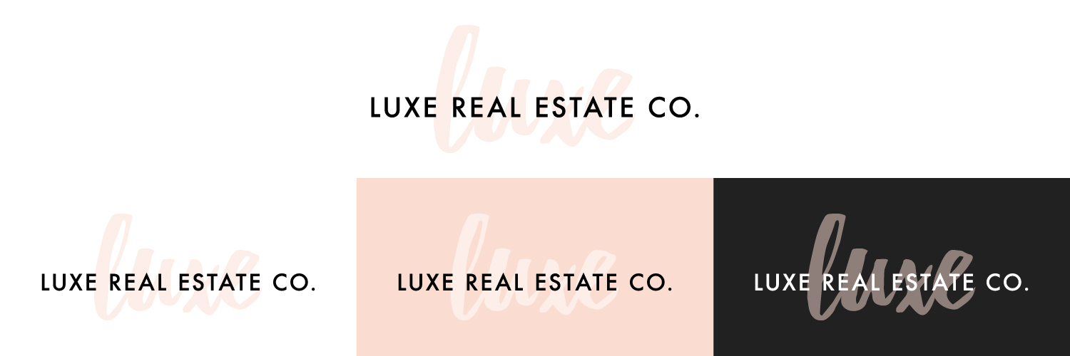 Luxe Real Estate Co. Watermark