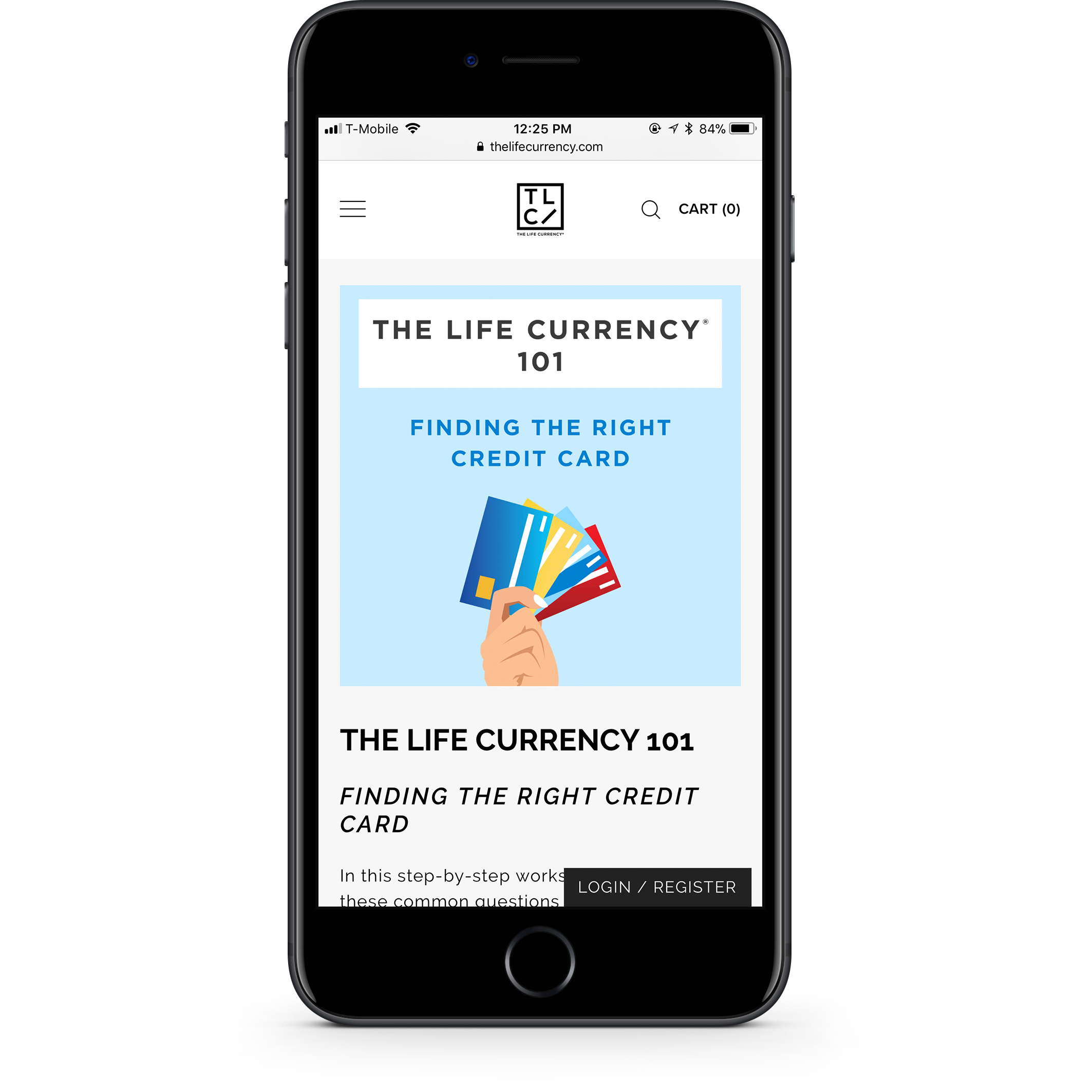 The Life Currency Downloads Page Mobile