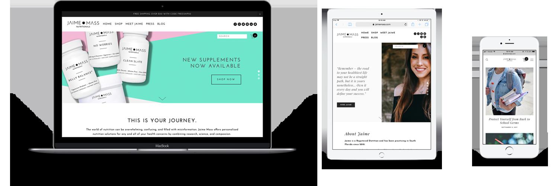 Jaime Mass Nutritionals Website