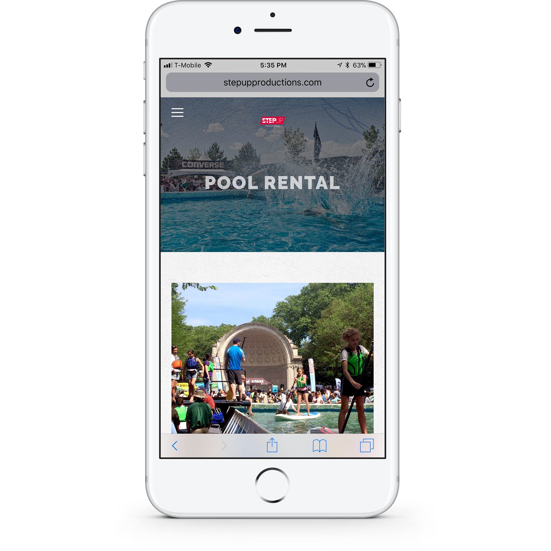 Step Up Productions Pool Rentals Mobile