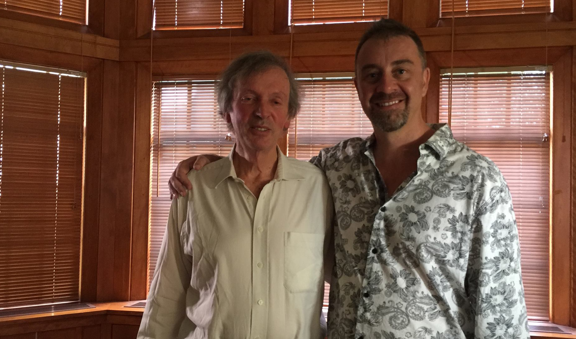With Dr. Rupert Sheldrake @ Grace Cathedral, San Francisco(2015)