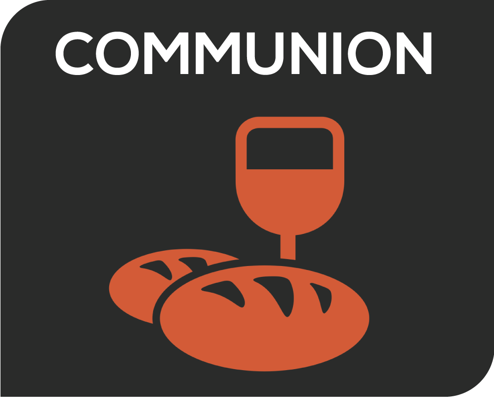 """Each Sunday as a central part of our worship, we share in the Lord's Supper (also called Communion or Eucharist). This is a simple, symbolic meal that reenacts the last supper Jesus shared with his disciples. Jesus told his followers that the bread he gave them was his """"body"""" and the wine was his """"blood."""" Therefore, our regular repetition of this beautiful, shared experience focuses our minds and hearts on Jesus Christ and his sacrificial death that embodies God's love for us. It keeps our worship centered on the good news of the new life that God offers us in Jesus Christ."""