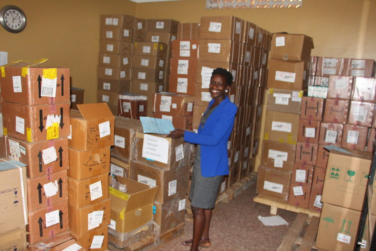 temporary storage of AIDS drugs