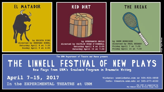 Caitlin is in Albuquerque directing Stephanie Grilo's new play RED DIRT at The Linnel Festival at University of New Mexico