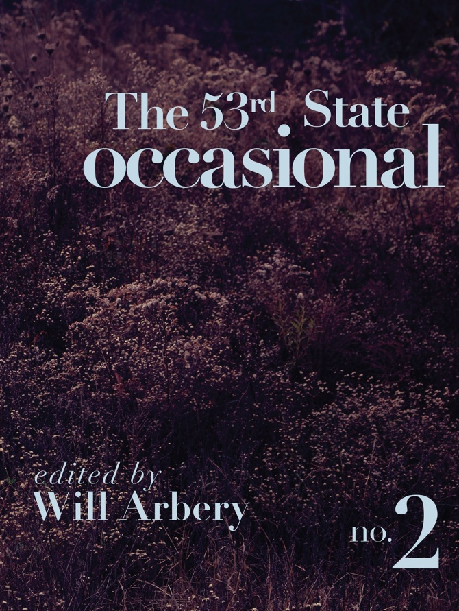 Caitlin was recently published in The 53rd State Occasional no.2! - BUY HEREEach edition of the Occasional invites a guest editor to talk with artists, thinkers and members of our community about questions that we have and topics that move us. For the second issue, we invited playwright Will Arbery to do the asking, and in turn he invited Alexander Borinsky, Matty Davis, Mashuq Mushtaq Deen, Corinne Donly, David Greenspan, Phillip Howze, Julia Jarcho, Modesto Flako Jimenez, Mia Katigbak, MJ Kaufman, Kristine Haruna Lee, Sofya Levitsky-Weitz, Daaimah Mubashshir, Rachel Marlene Kauder Nalebuff, Caitlin Ryan O'Connell, Zach Rufa, Ren Dara Santiago, Celine Song, Jordan Tannahill, Kate Tarker, Alice Tuan, Korde Arrington Tuttle, and Madeline Wise to consider the notion of