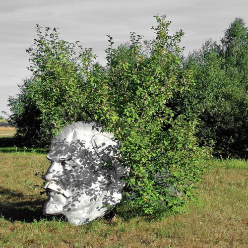 lenin head in field.jpg