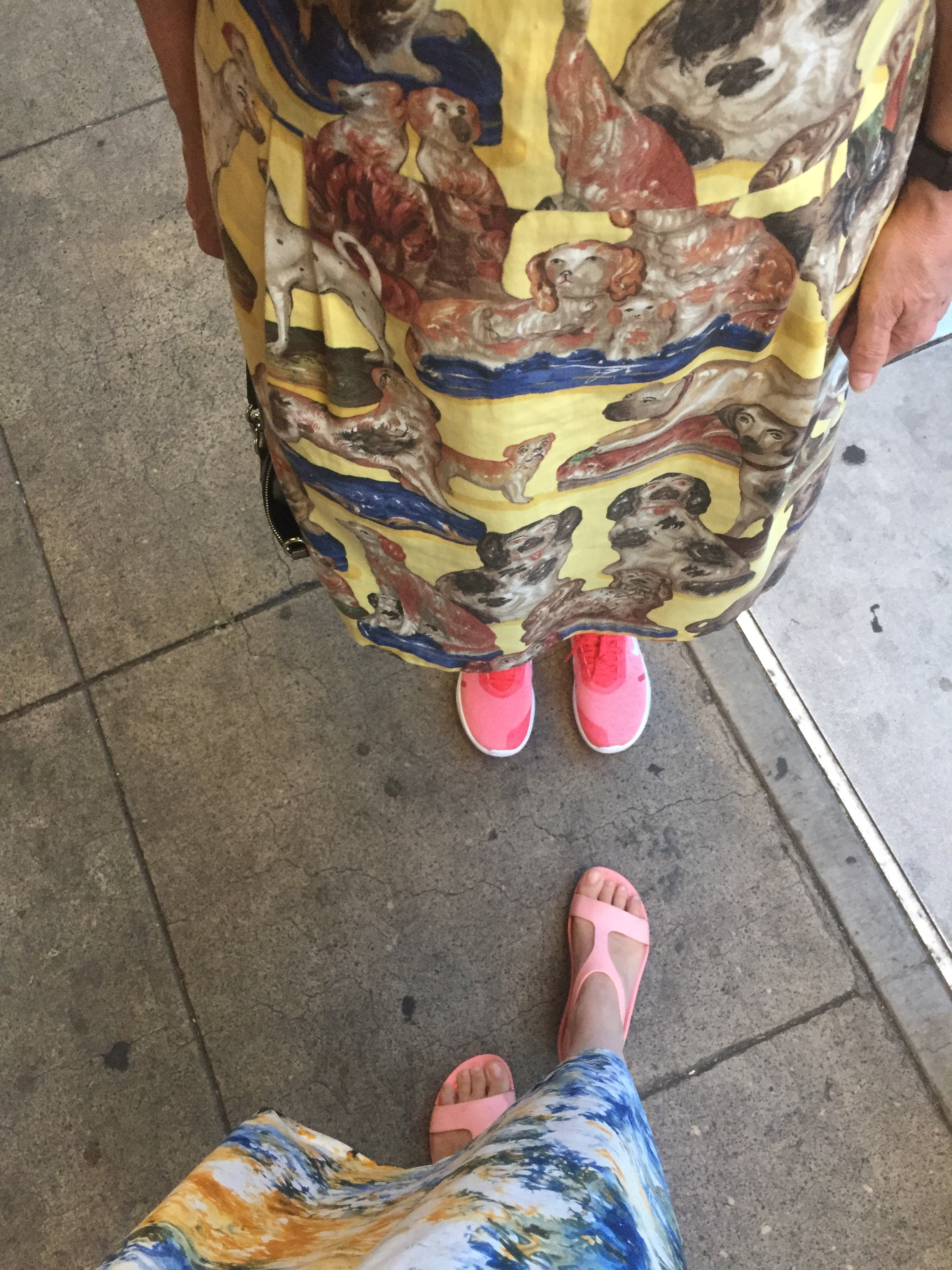A painter and a designer pink shoes yellow dresses
