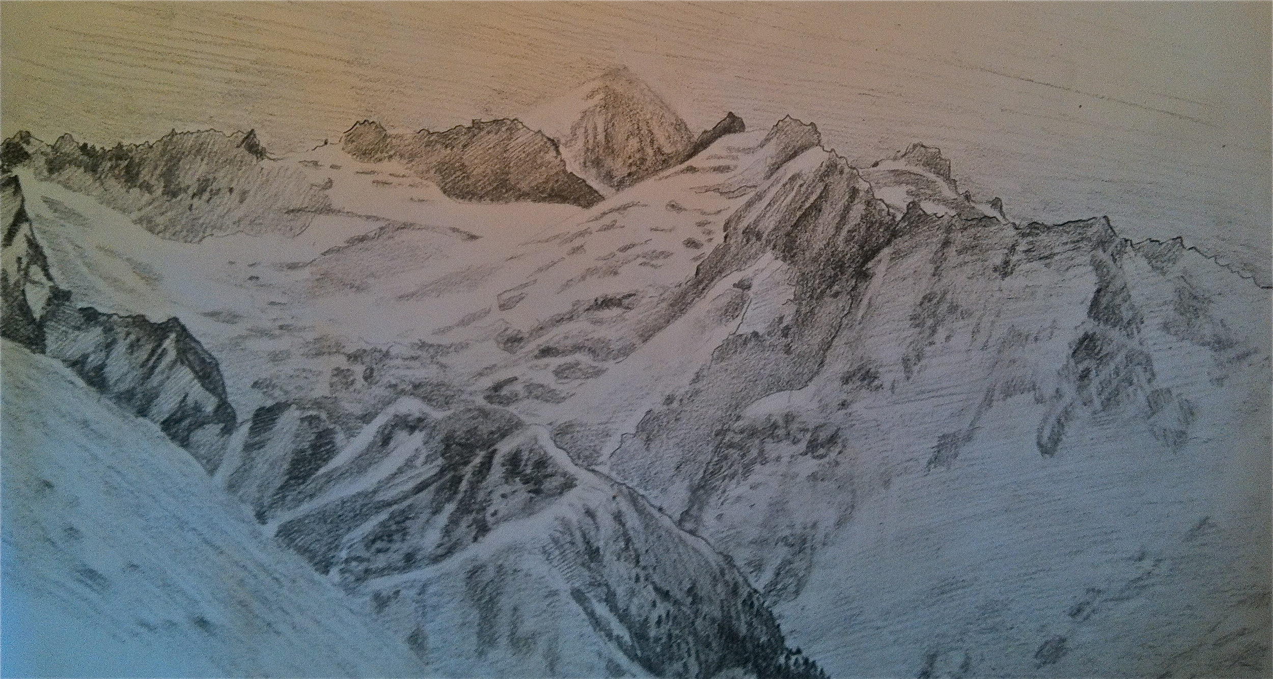 Eldorado and the McAllister Glacier from Isolation Peak