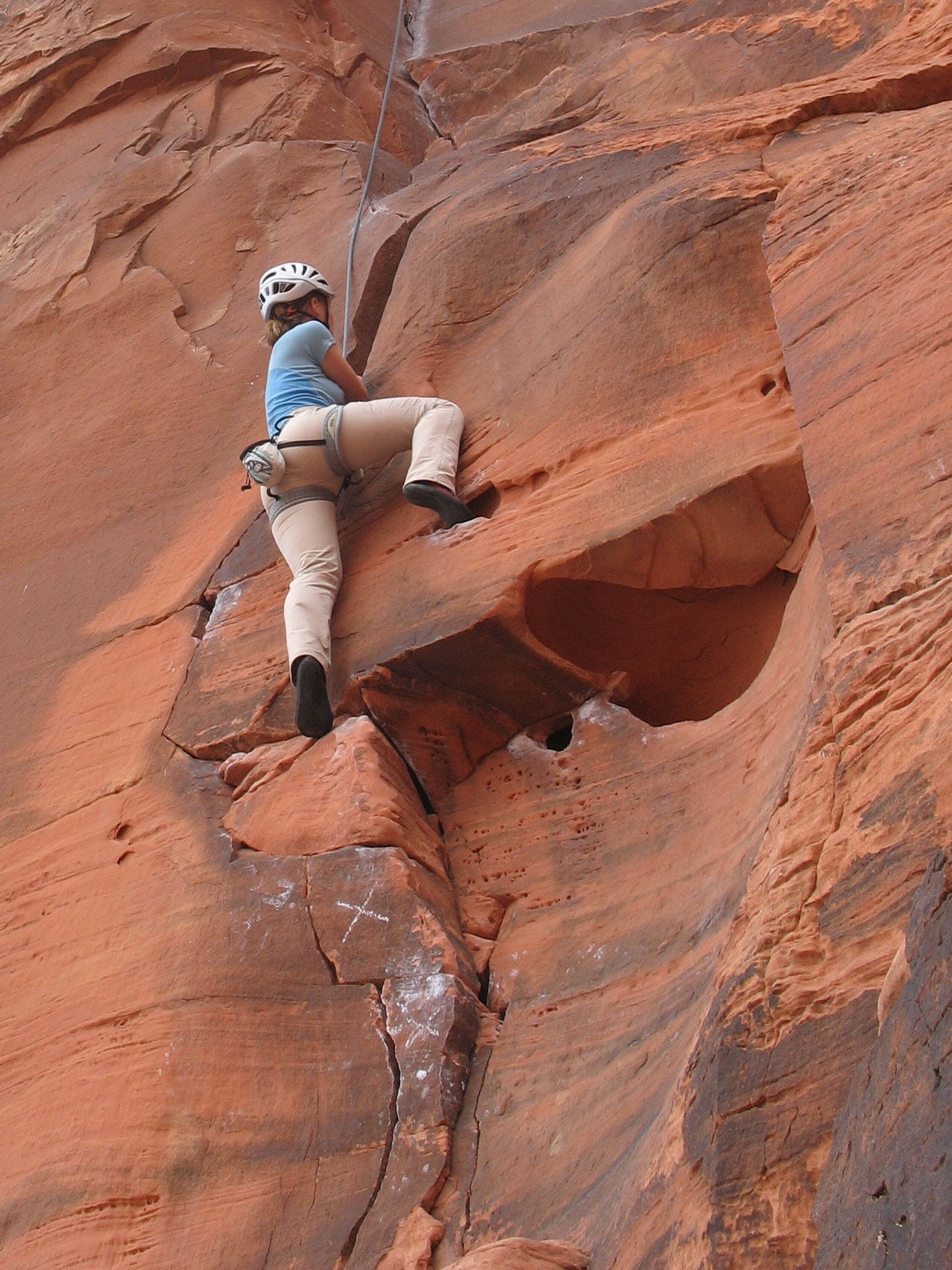 Classic Red Rock trad climbing on The Fox