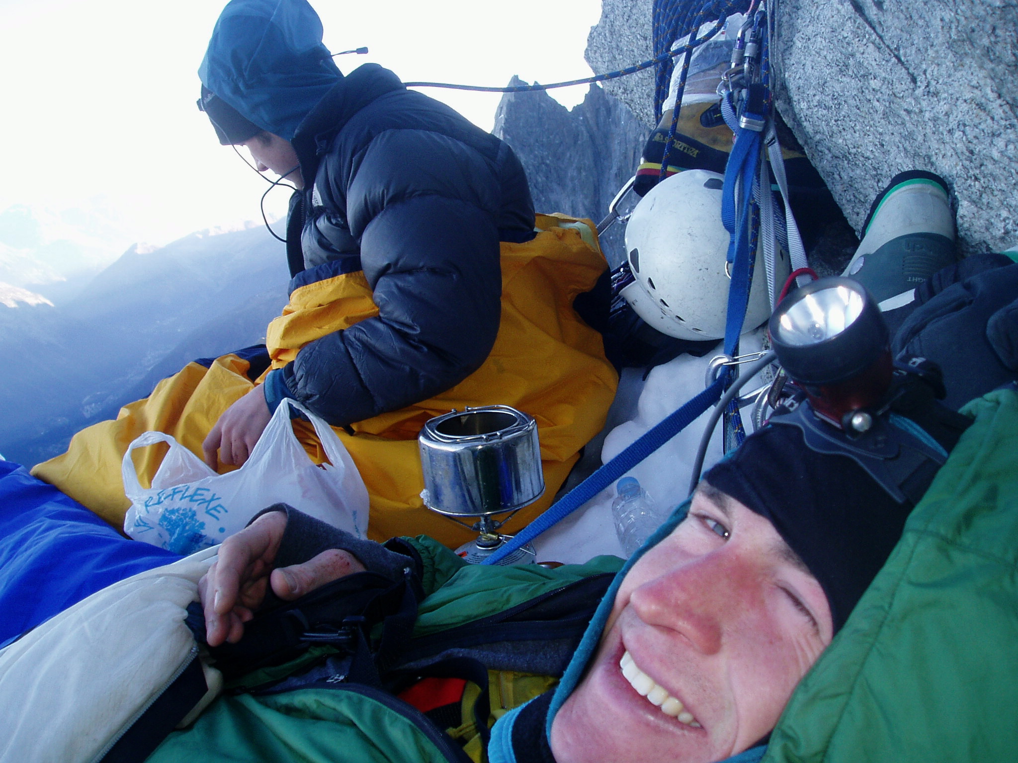 Bivy on the Frendo Spur