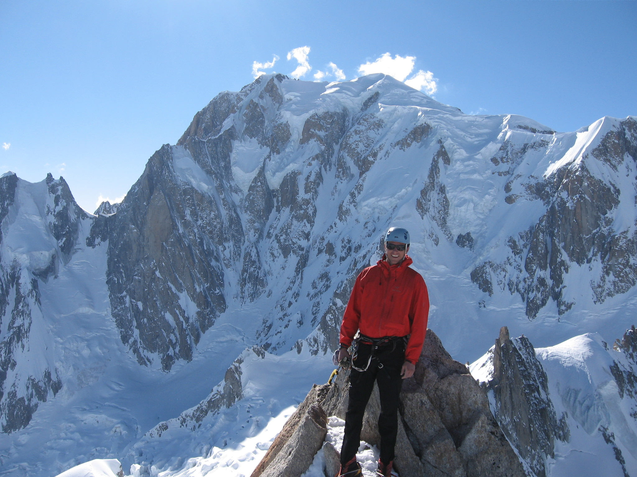 On the summit of the Tour Ronde