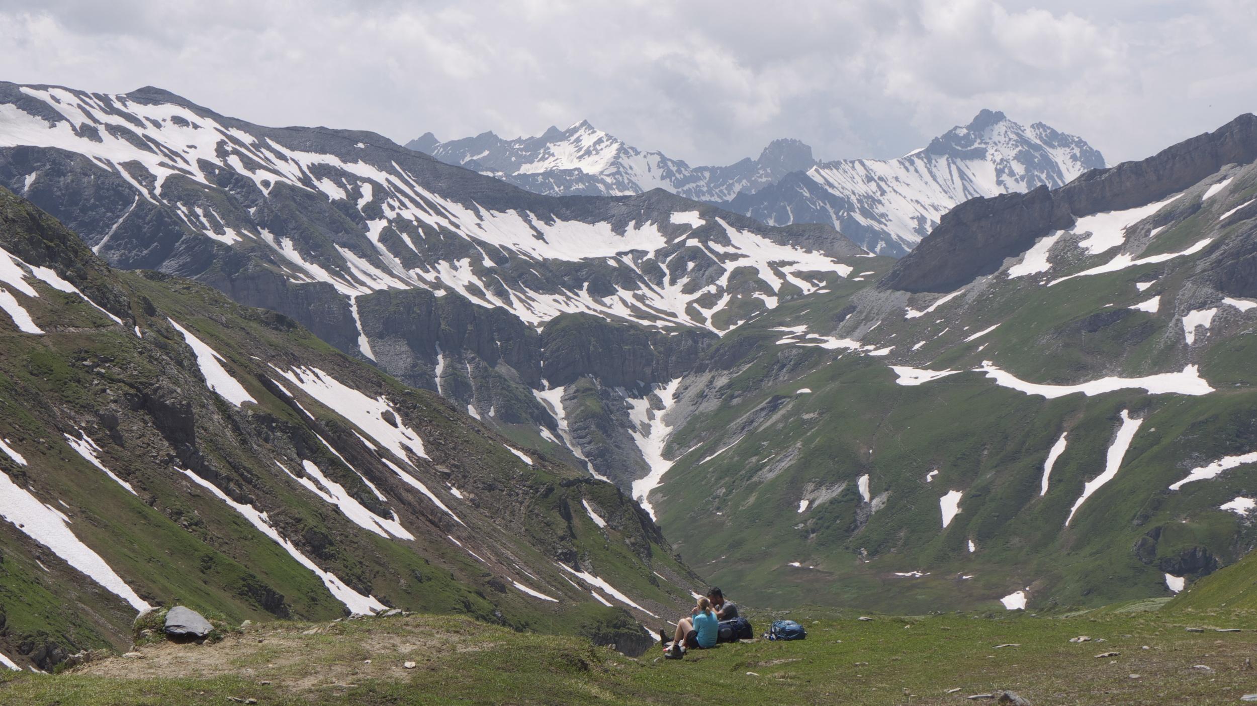 The Col du Bonhomme sits near the heart of the Reserve Naturel des Contamines-Montjoie.