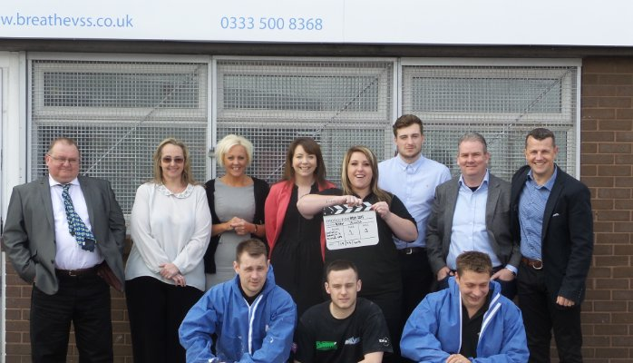 The Liverpool Team, outside our new Head Office in Sandon Way.