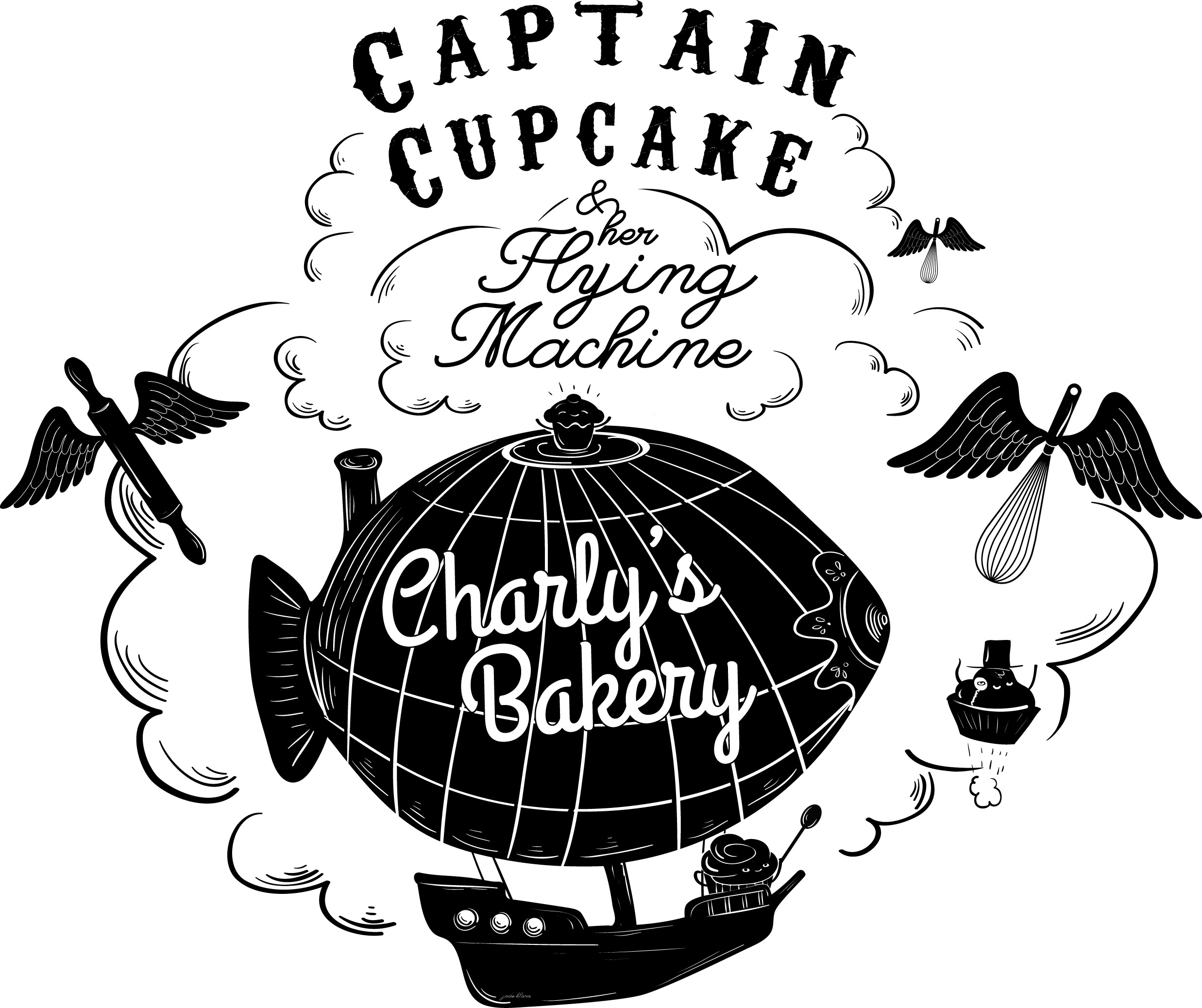 Captain Cupcake vinyl design