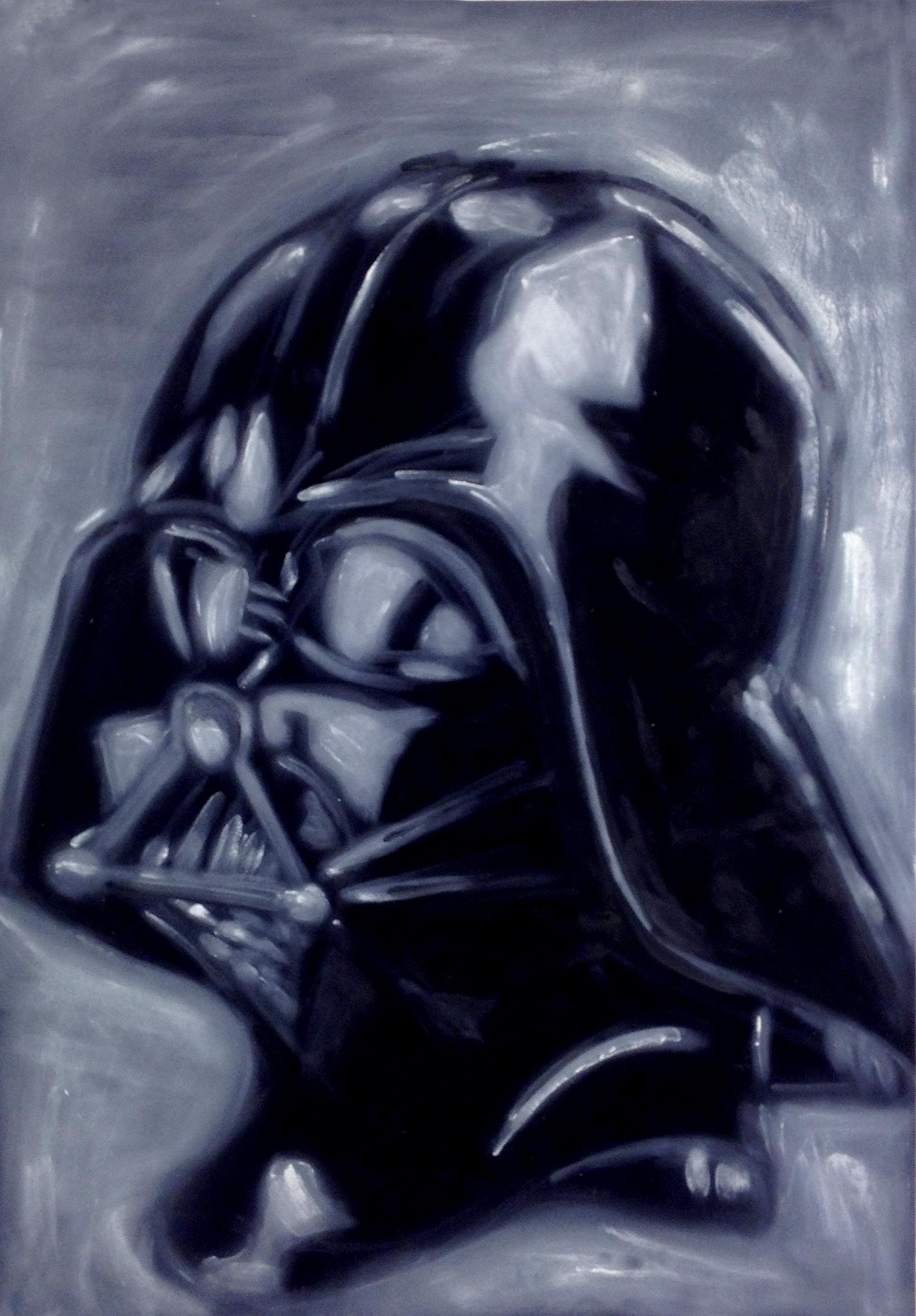 Darth Vader      Oil on velvet 2012