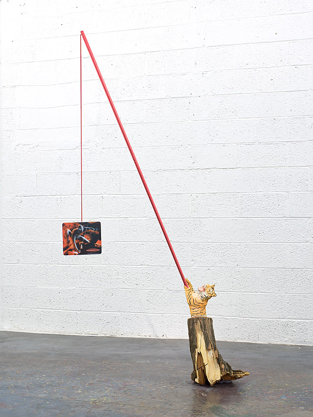 The Tiger & the Spider    2009; Mixed media; 87 X 20 X 20 in.