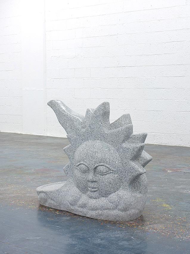 Grey Sun    2009; Granite; 40 X 18 X 47 in.
