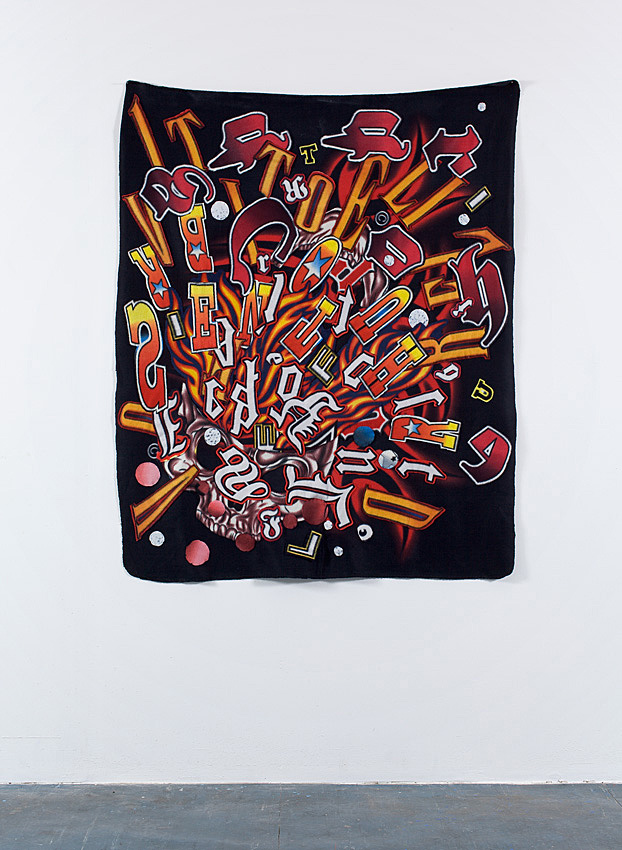 BOOM       2009; Fabricassemblage; 60 X 48 in.