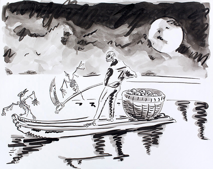 Pearl River    2009; Ink on paper; 19 X 24 in.