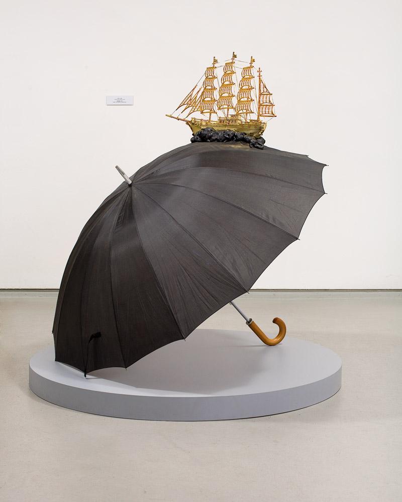 Umbrella    2006; Mixed Media  ;47 X 55 X 63 in.