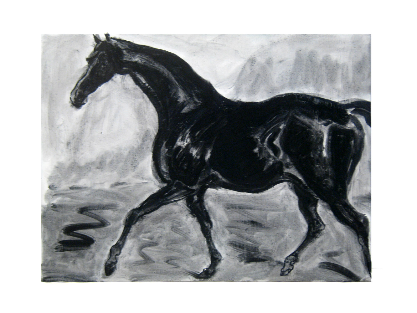 A Horse    Oil on wood panel, 2012