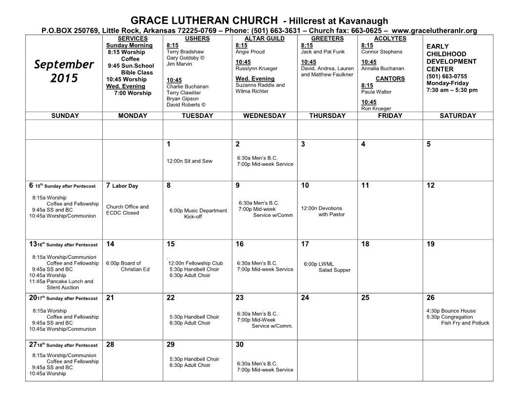 Calendar - September 2015