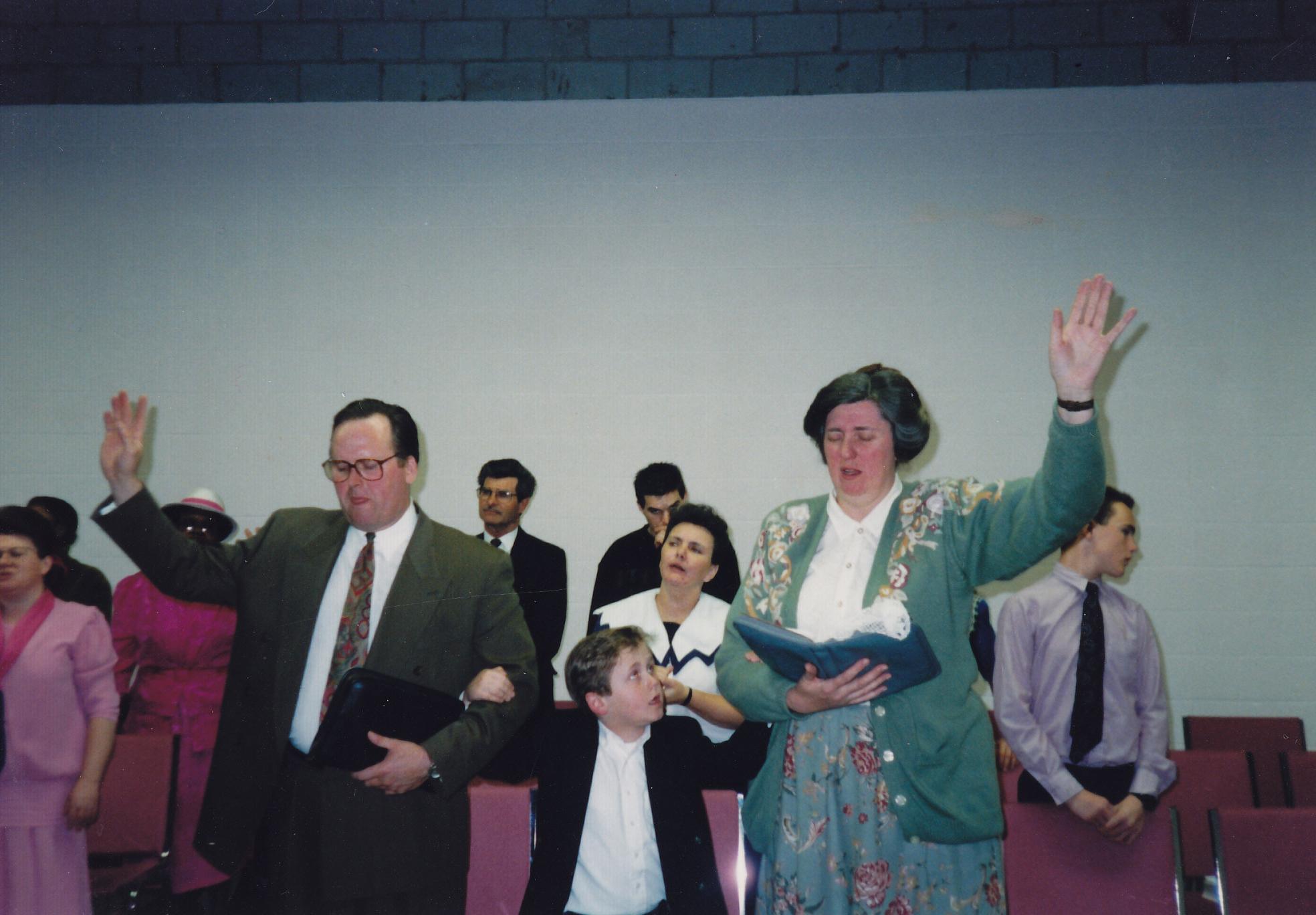 The Brysons installation service as Pastors of PLC - April 1992