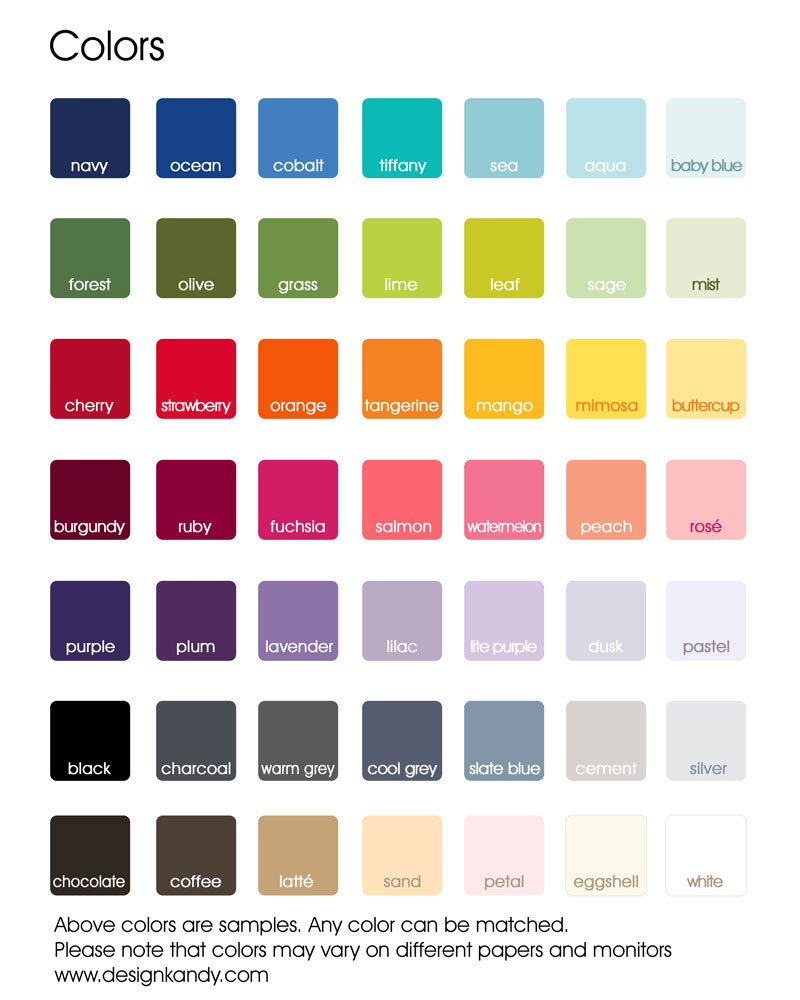 color choices for wedding invitations, save the dates, stationery