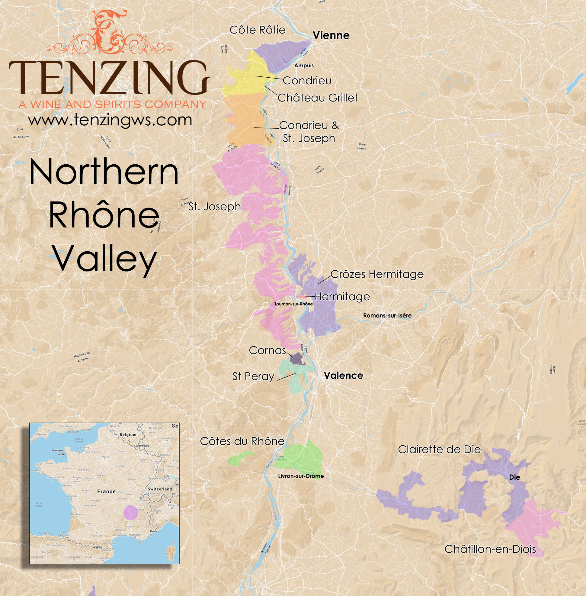 Northern Rhone Map