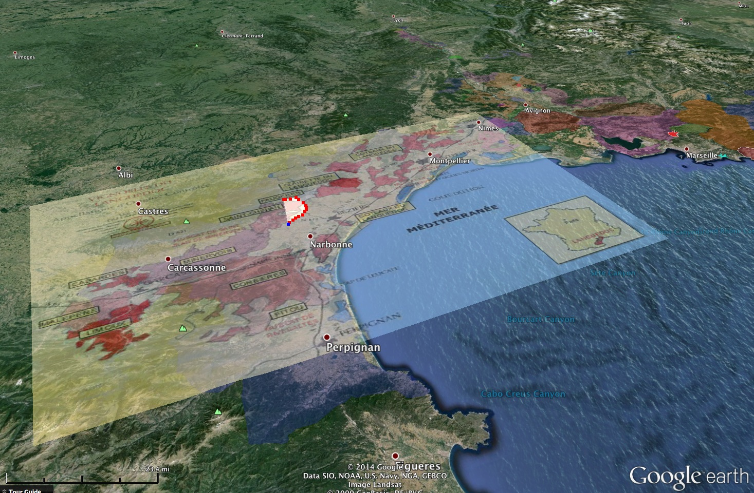 South Of France Map Google.Mapping The South Of France Aops With Google Earth