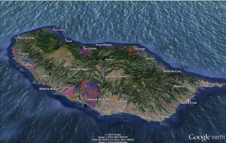MAP! Madeira vineyards by grape plantings  — Fernando Beteta, MS