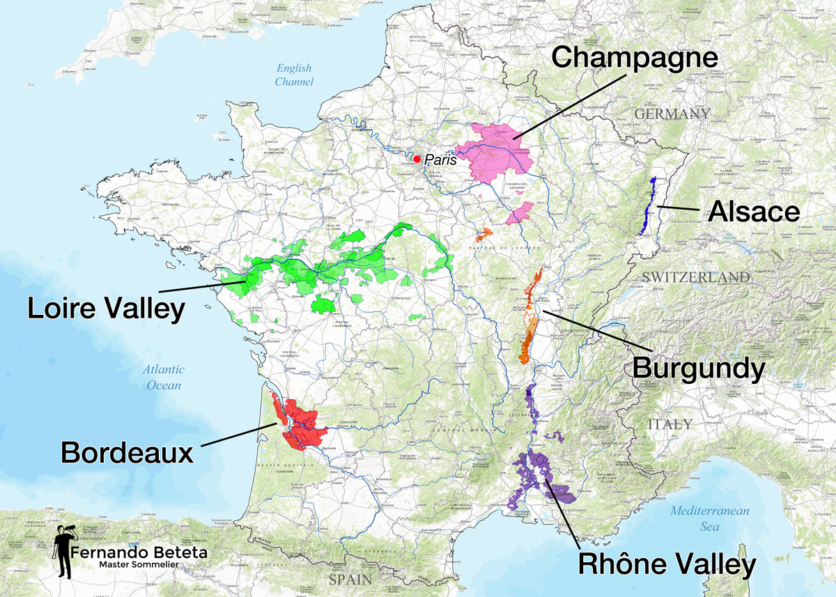 France - Overview Major Regions