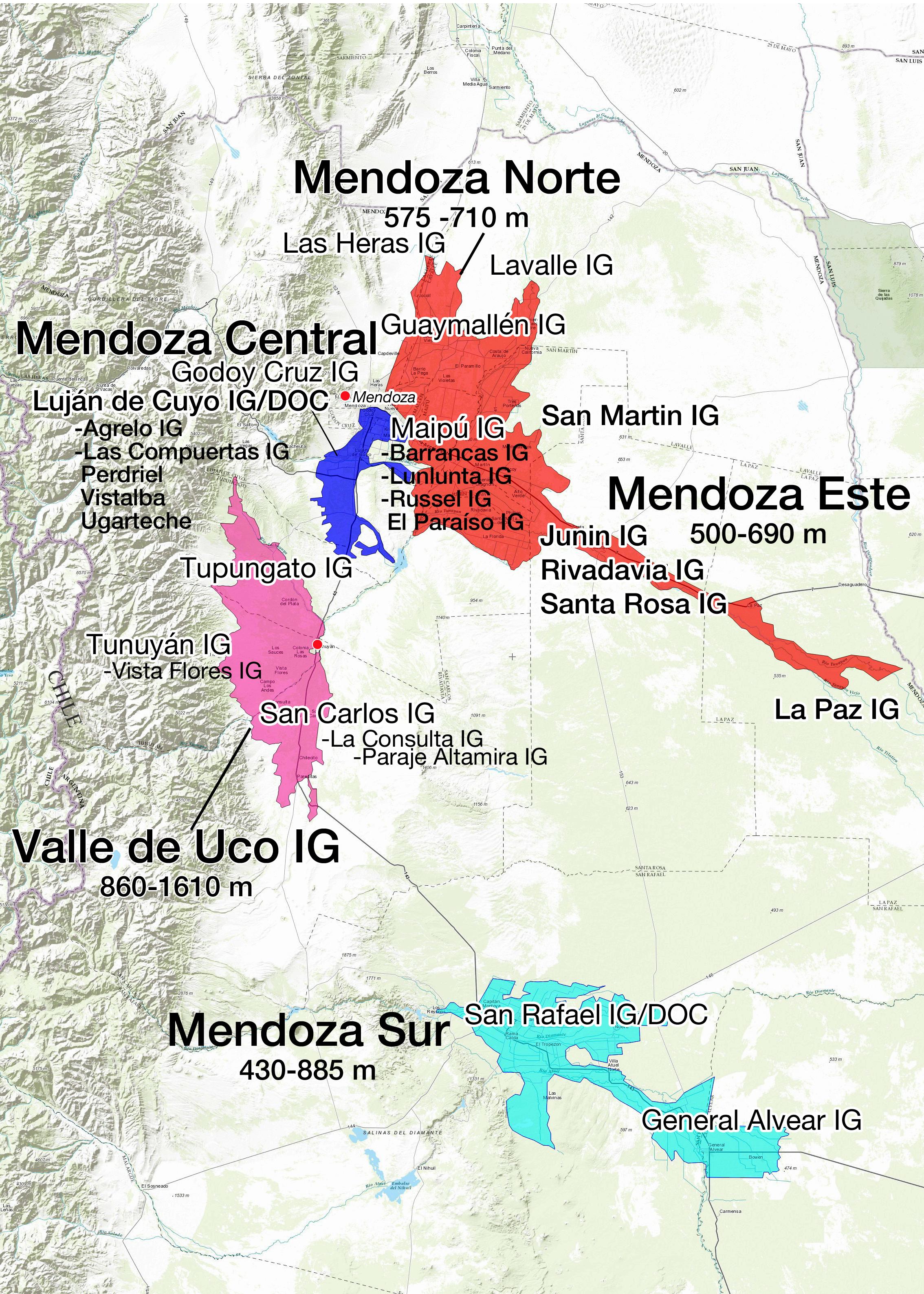 Argentina - Mendoza Advanced Map
