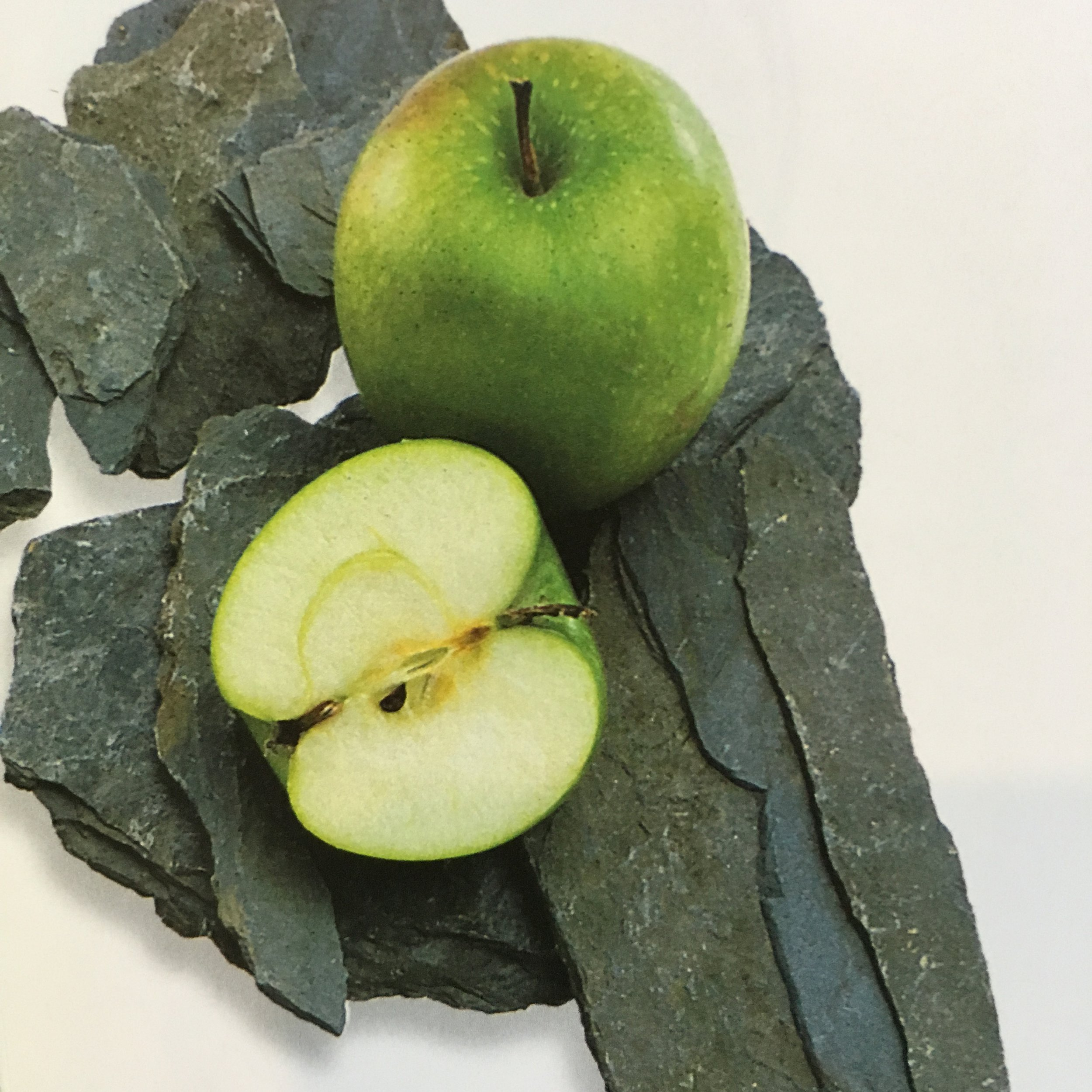 Blue Slate and Green Apple