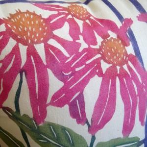 katazome coneflower pillow detail © Kit Eastman