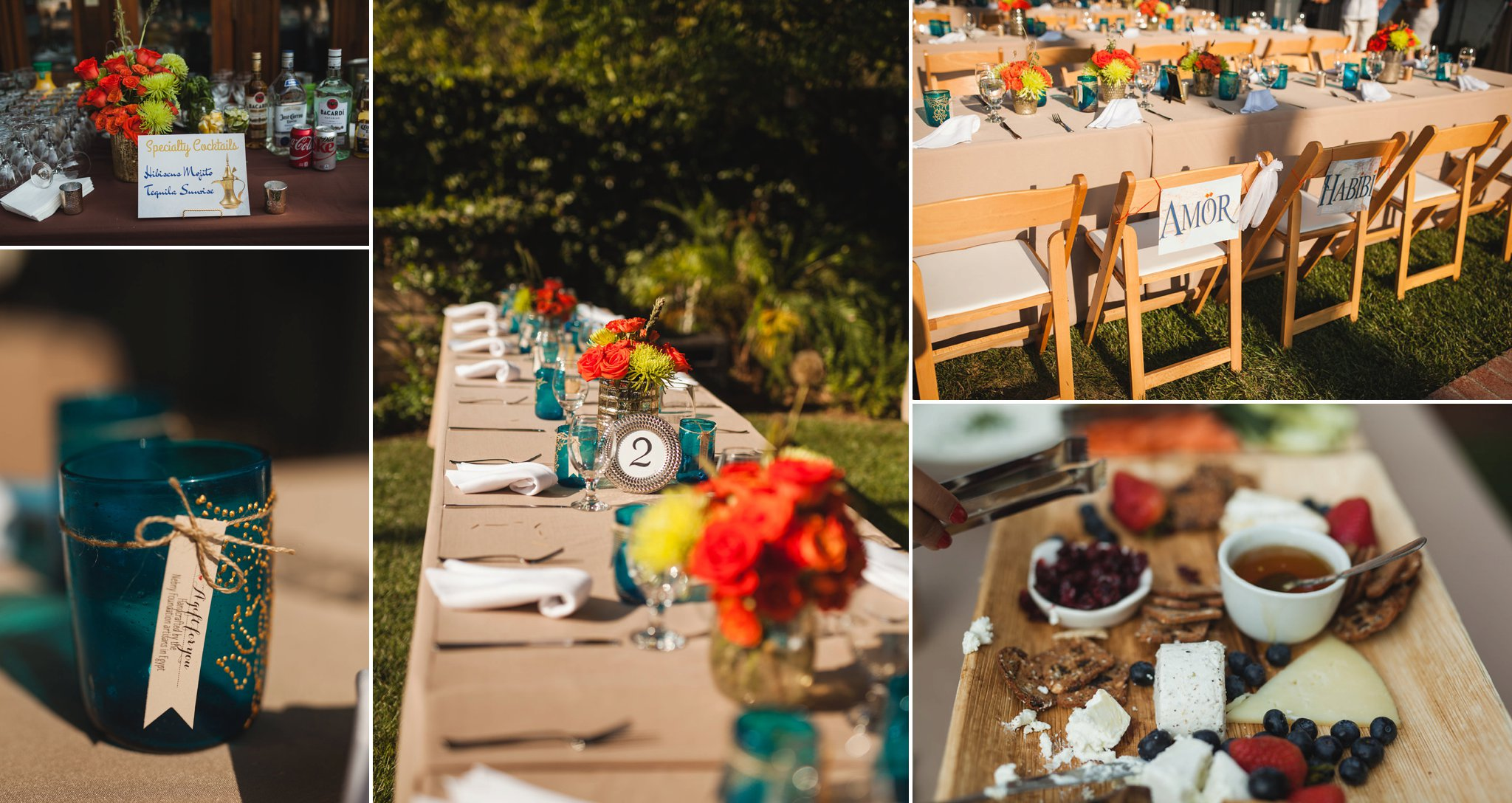Feminist Wedding Photography Carly Romeo Photography Richmond VA Destination Altadena California Reception Details Table Setting Florals