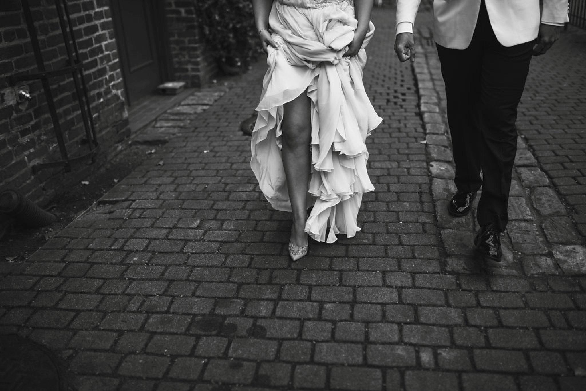 New Year's Eve Feminist Brazilian Wedding Photography Seattle Washington Carly Romeo Photography Richmond VA Bride Dress Street Urban