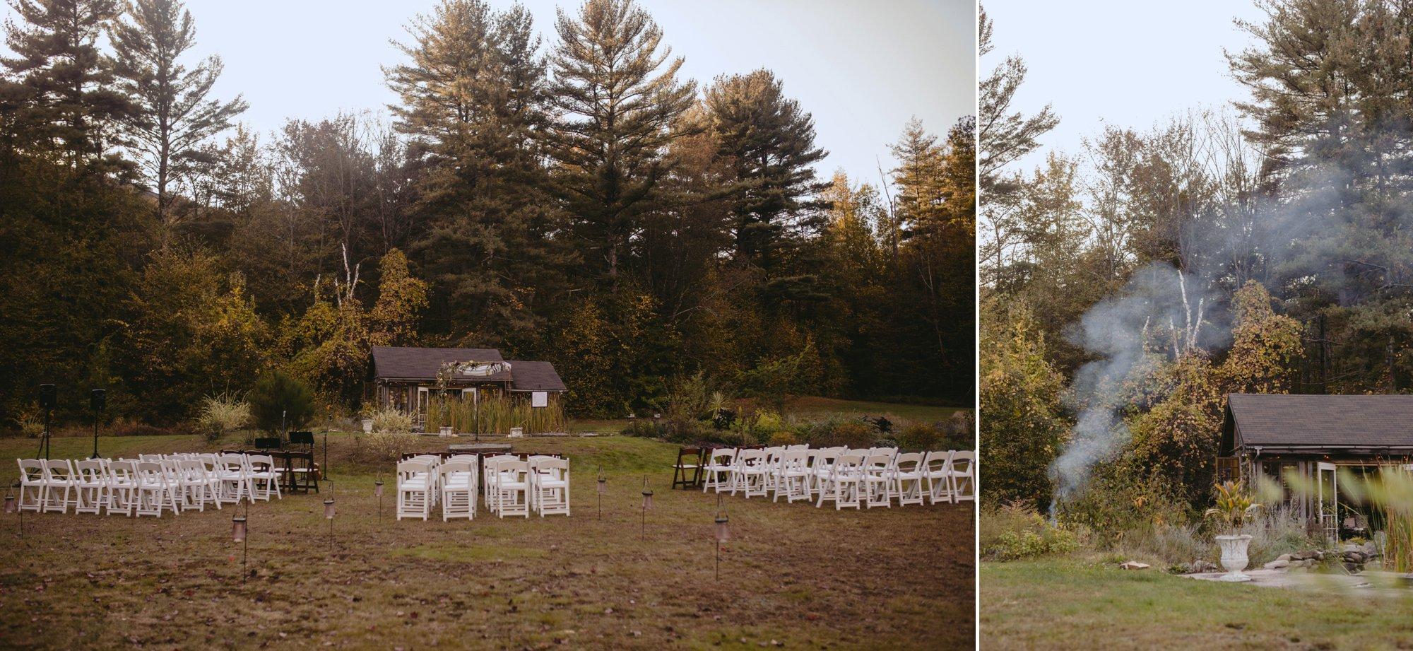 october foxfire mountain house wedding upstate new york. Ceremony site.