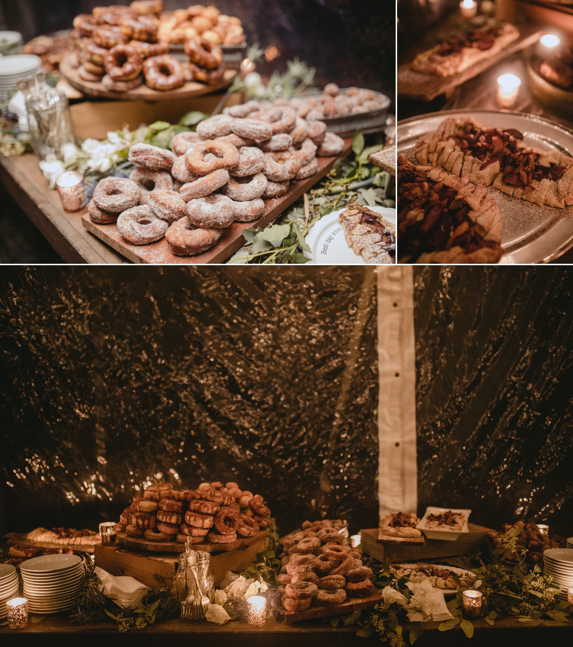 October Jewish lesbian wedding at Foxfire Mountain House in Upstate New York. Desserts!