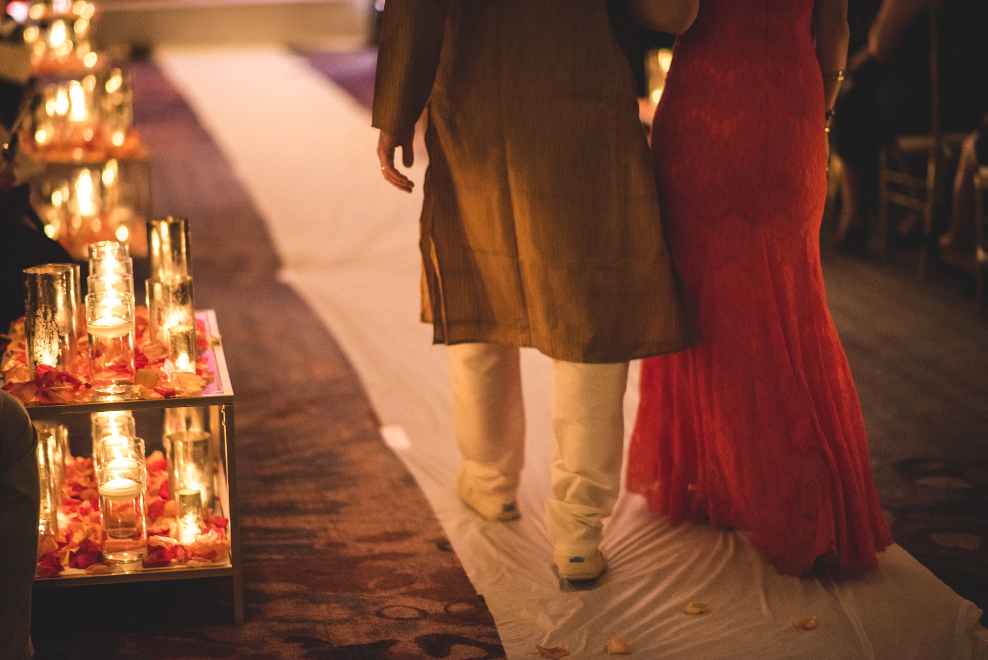Washington DC colorful Indian wedding with a feminist bride. Candle details.