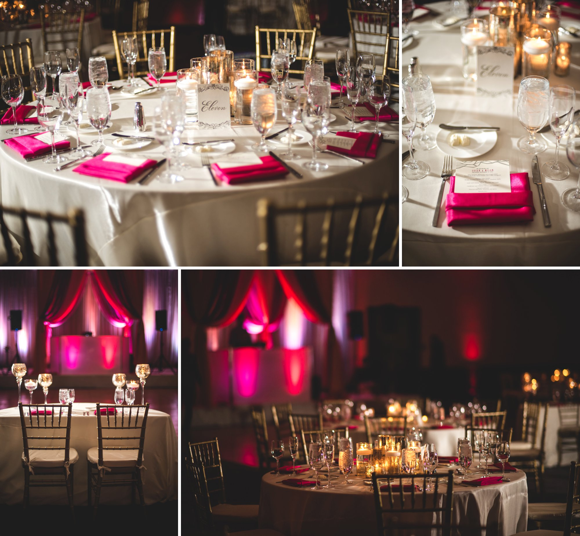 Washington DC colorful Indian wedding with a feminist bride. Reception details.