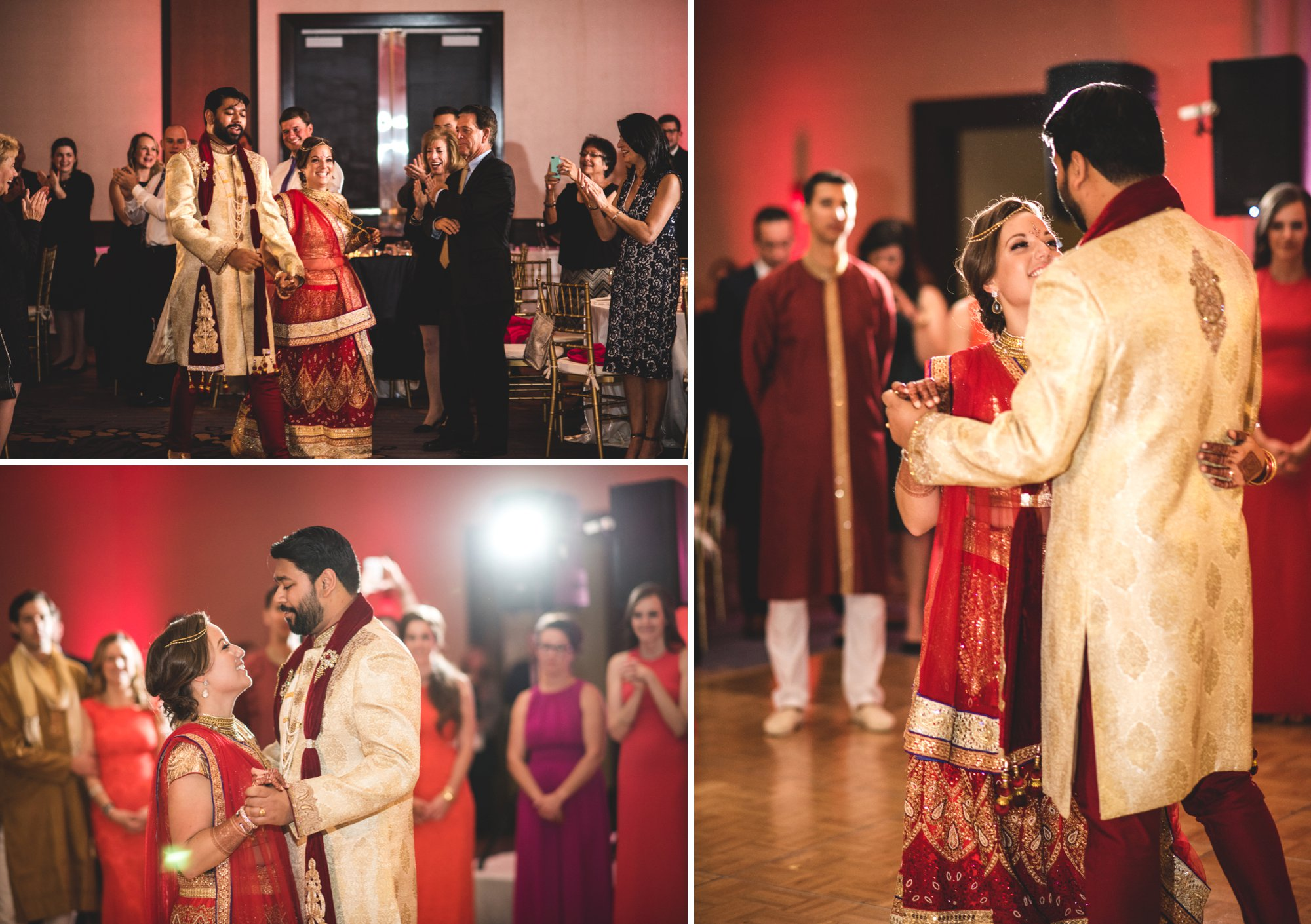 Washington DC colorful Indian wedding with a feminist bride. Dancing.