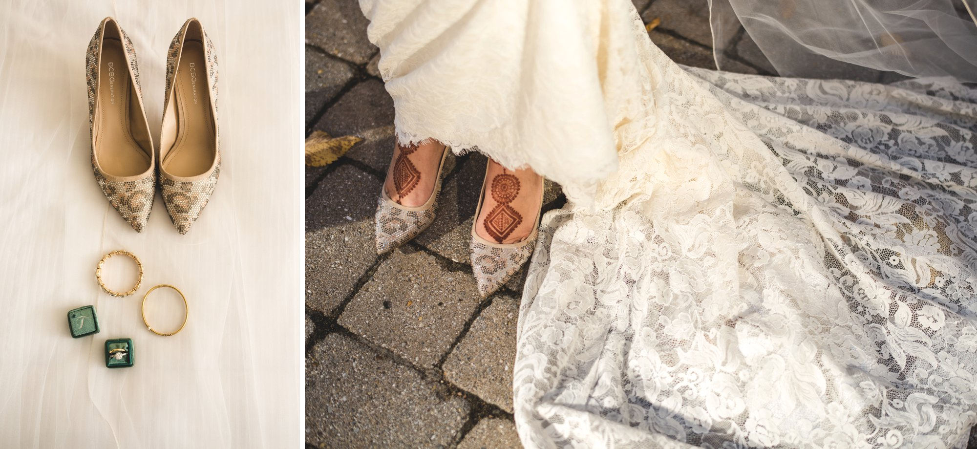 Washington DC colorful Indian wedding with a feminist bride. Bridal details