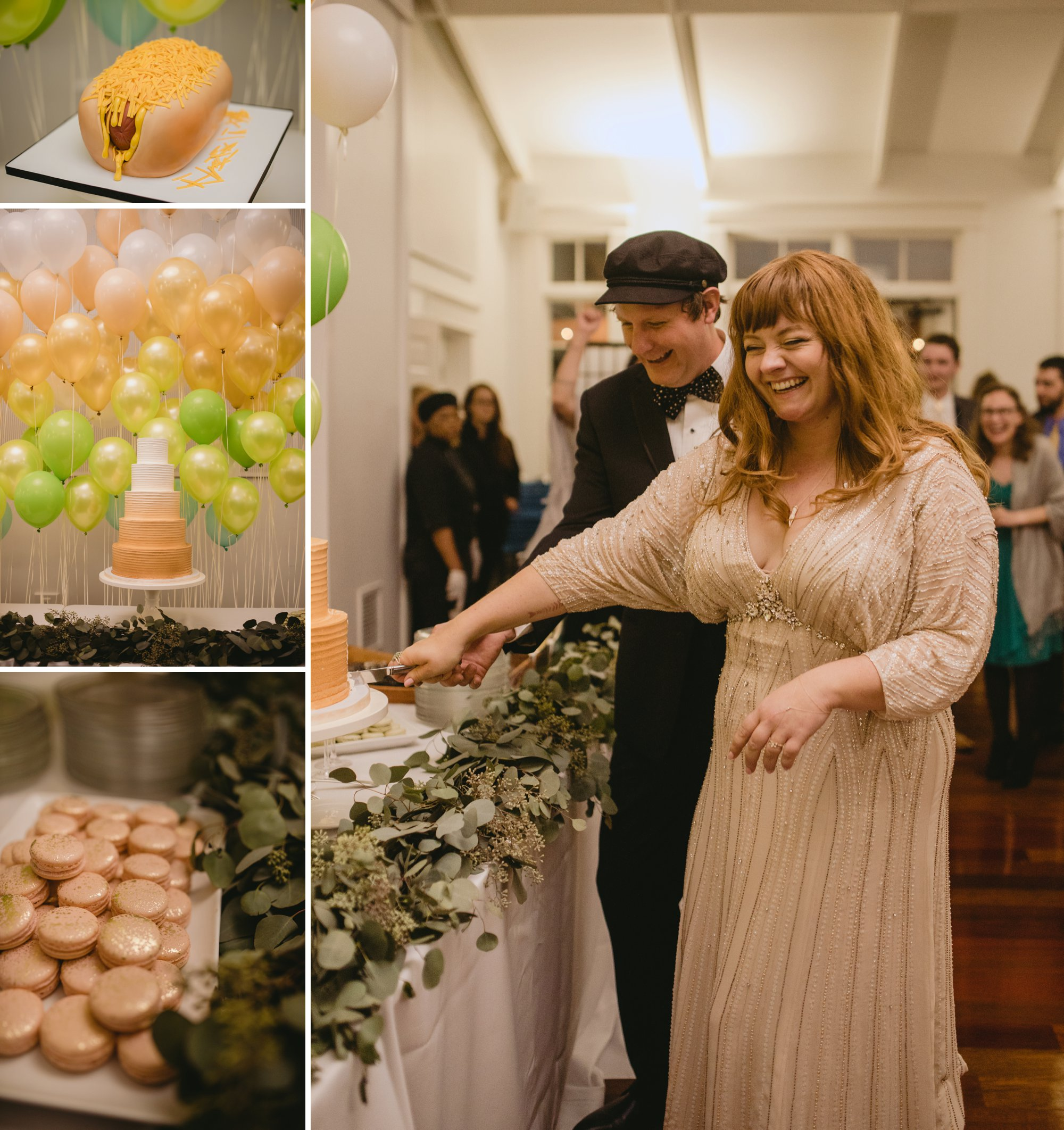 Autumn Richmond VA winery wedding at Upper Shirley Vineyards with lush garden florals and old Hollywood glamour cake