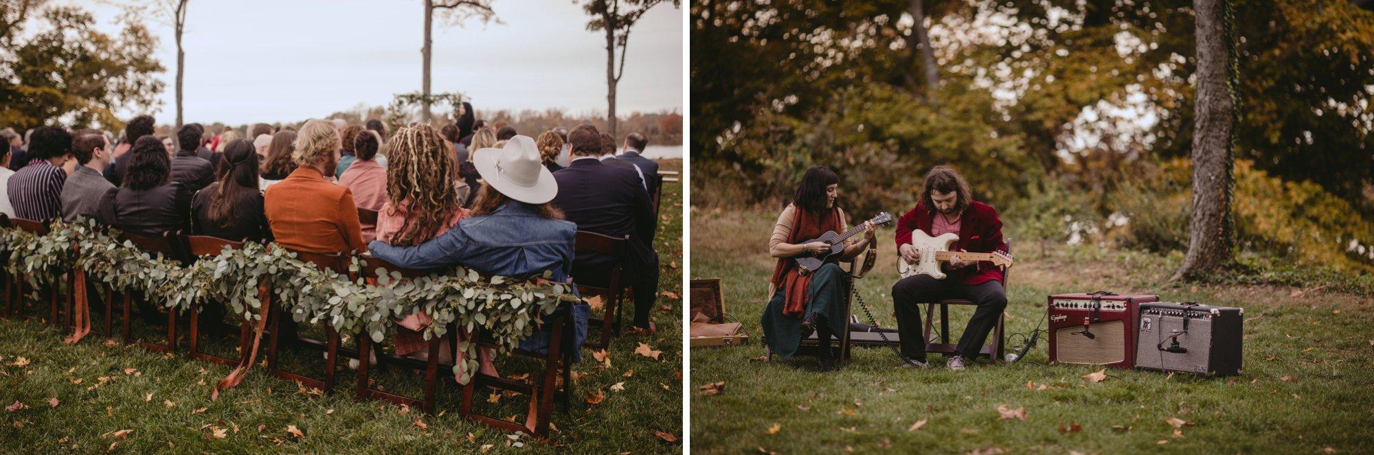 Autumn Richmond VA winery wedding at Upper Shirley Vineyards with lush garden florals and old Hollywood glamour ceremony