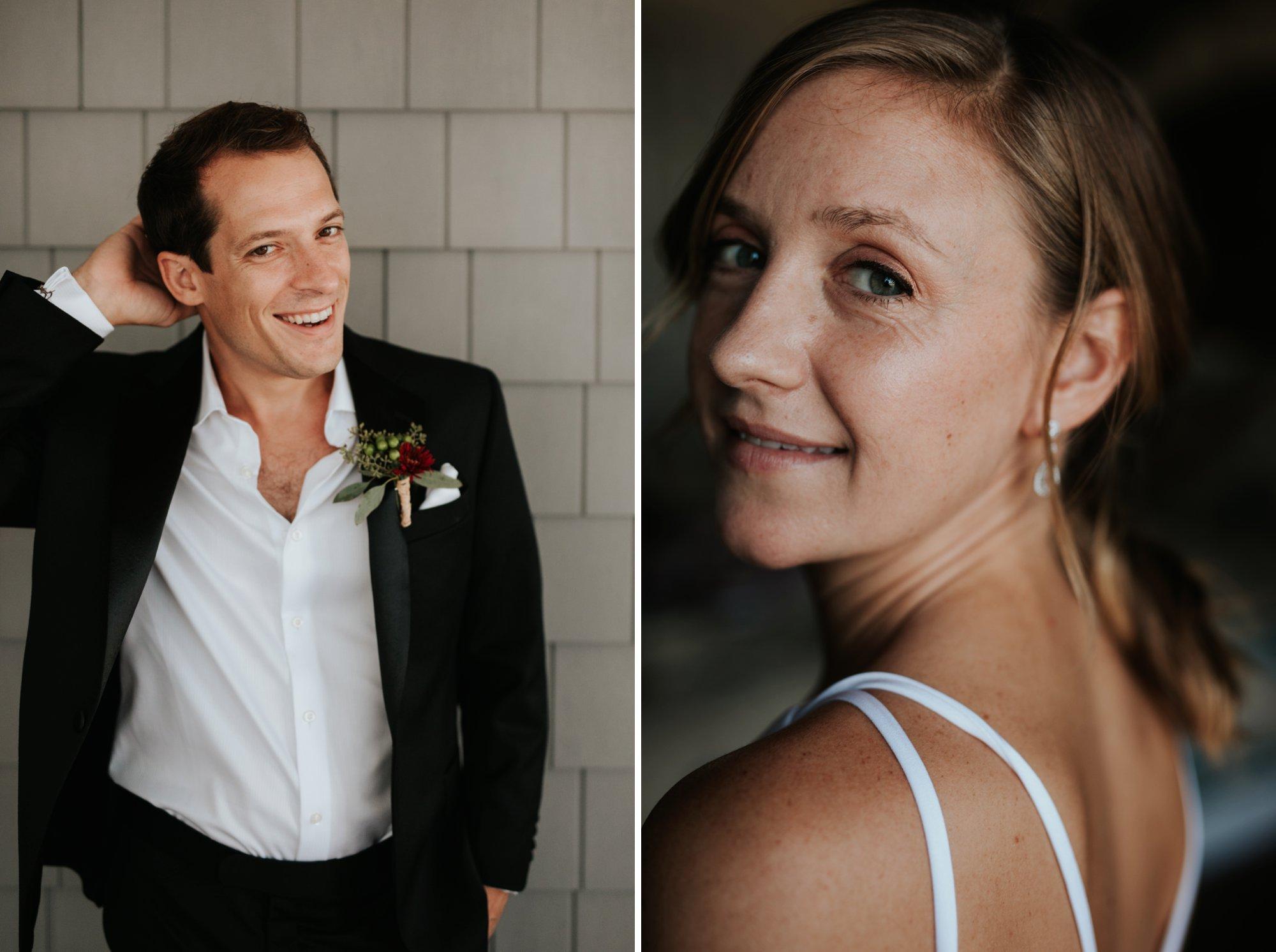 Low key backyard beach wedding in Sandbridge, VA individual portraits