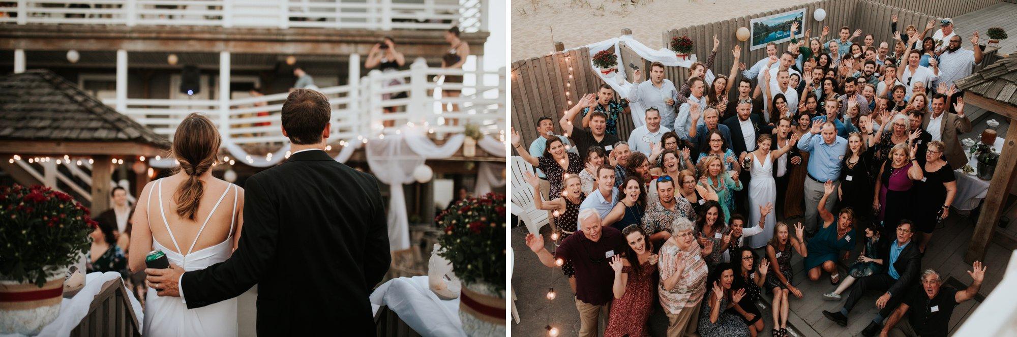 Low key backyard beach wedding in Sandbridge, VA party