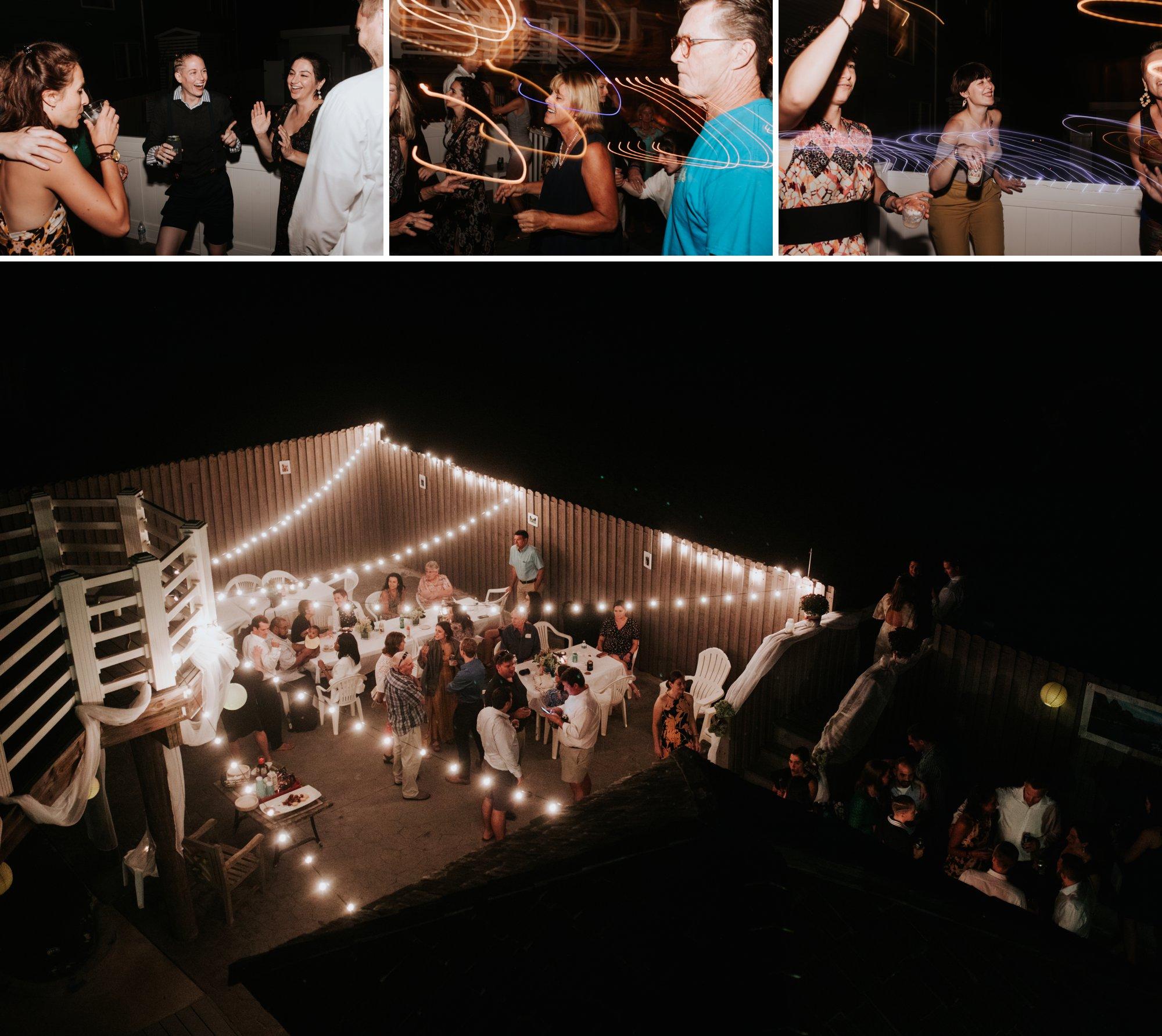 Low key backyard beach wedding in Sandbridge, VA