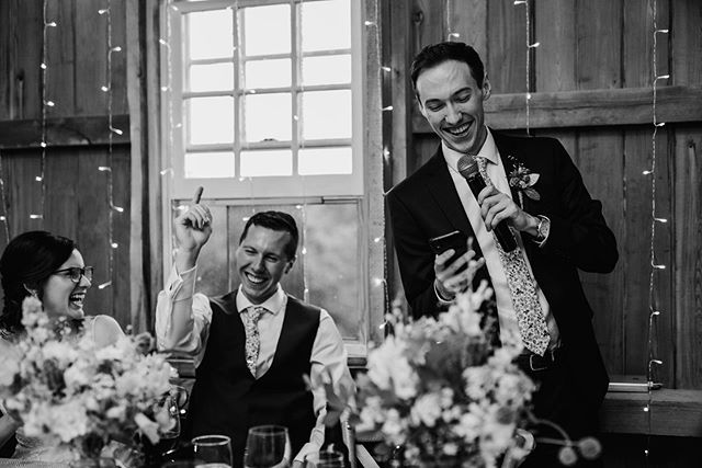 Here's to friends and family who truly KNOW you and whose wedding toasts will be cracking you up for years to come 🥂