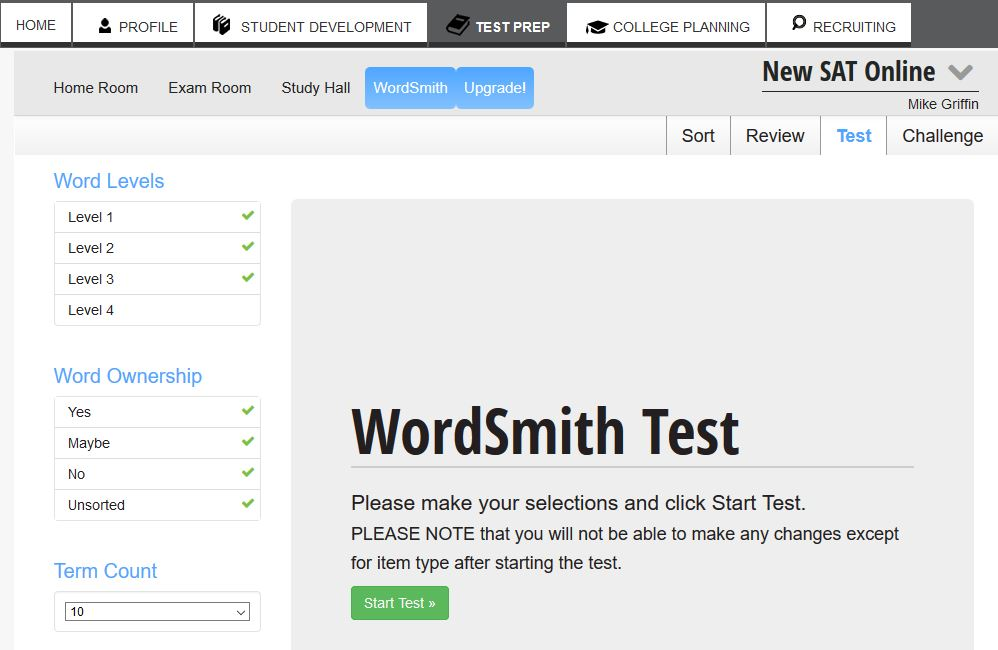 Use the Wordsmith to improve your vocabulary.